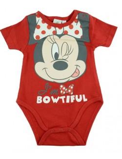 Body bebelusi Minnie Mouse, rosu, 3 - 23 luni
