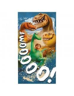 Prosop plaja din bumbac, Bunul Dinozaur, 70x140 cm