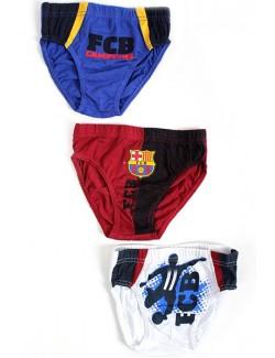 Set 3 perechi chiloti 2-12 ani, FC Barcelona