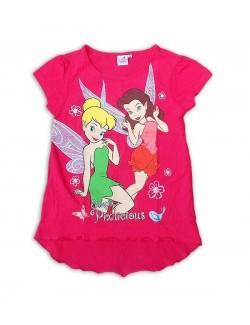 Tricou fete Disney Fairies, culoare fucsia, 3-8 ani