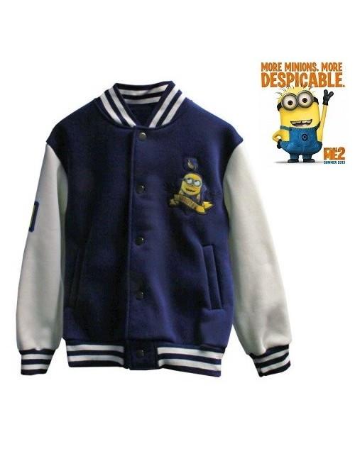 Jacheta baseball pentru baieti - Minions