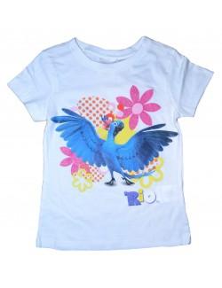 Tricou de vara RIO Jewel alb, fete 4-8 ani