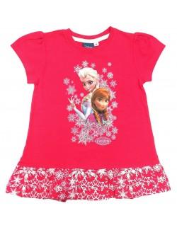 Tricou tunica Disney Frozen, 4 ani, fucsia