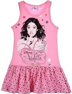 Rochie de plaja Violeta, roz, copii 6 - 12 ani