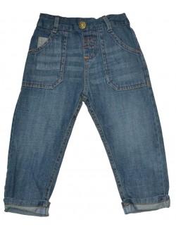 Pantaloni jeans bebelusi 0-3 si 9-12 luni Babaluno