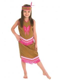 Costum carnaval copii: Fetita Indiana, 5-6 ani