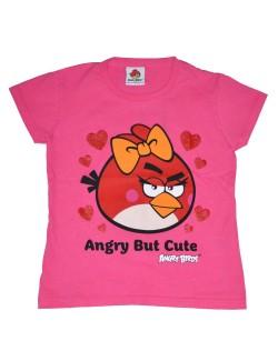 Tricou cu maneca scurta fete Angry Birds