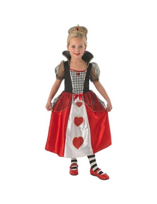 Costum carnaval copii: Regina de Inima Rosie