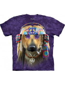 Tricou The Mountain unisex adulti: Peace Dog Hippie