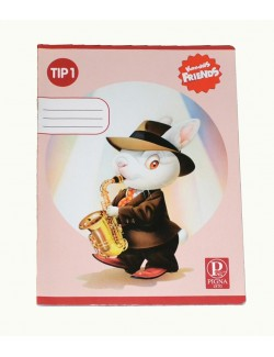 Caiet Tip 1 Pigna, 24 file, Iepuras Saxofonist
