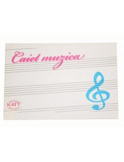 Caiet de MUZICA, 16 file, Katy Paper