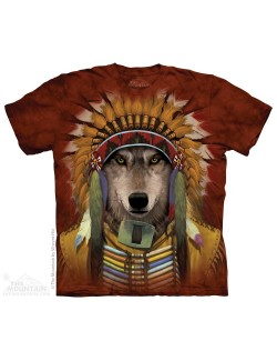 Tricou The Mountain adulti: Wolf Spirit Chief
