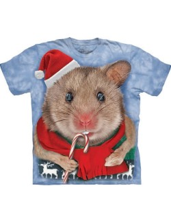 Tricou The Mountain adulti: Christmas Mouse