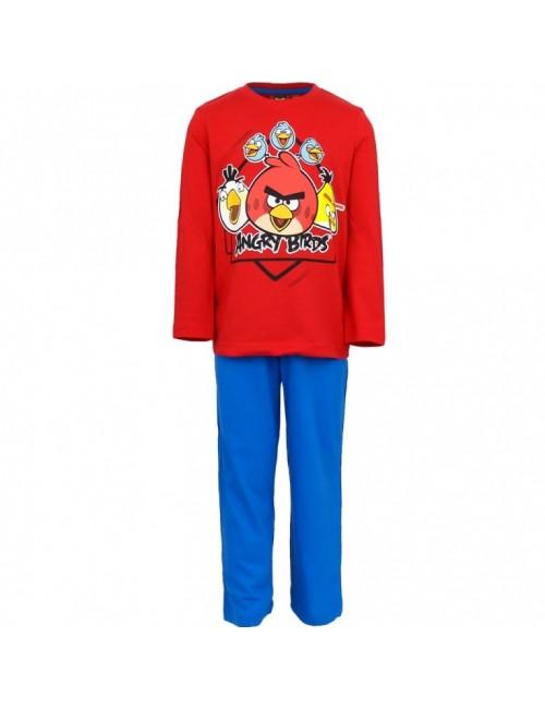 Pijama copi, Angry Birds, 6 - 10 ani, rosu - albastru