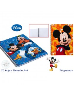 Caiet matematica A4, 70 file, Mickey & Friends