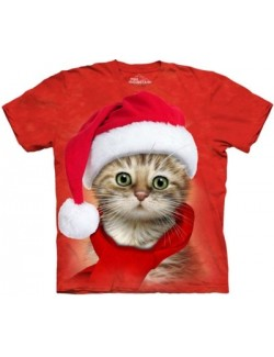 Tricou adulti The Mountain: Santa Cat Red