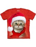 Tricou adulti The Mountain: Santa Cat Red