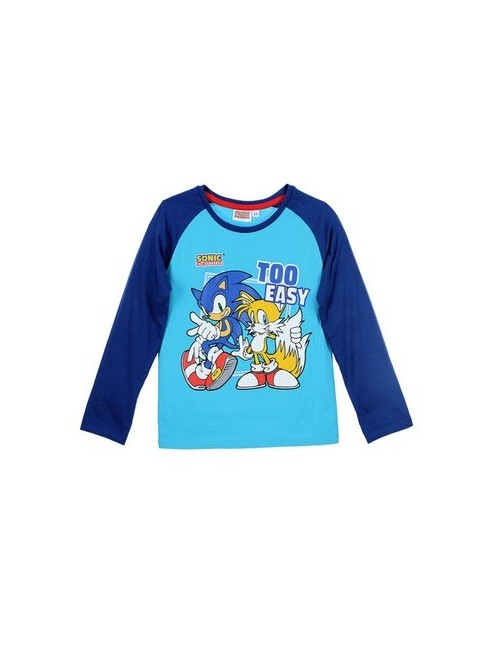 Bluza Ariciul Sonic, copii 3 ani, bleu