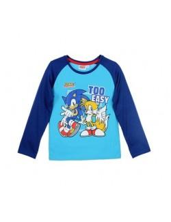 Bluza maneca lunga 3 - 4 ani, bleu, Ariciul Sonic