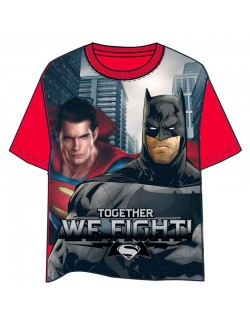 "Tricou Batman vs. Superman ""Together we fight"""