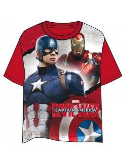 Tricou Capitan America, rosu, copii 4-10 ani