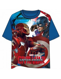 Tricou Captain America: Civil War 4-10 ani, albastru