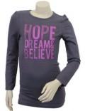 Bluza cu maneca lunga Hope, Dream & Belive