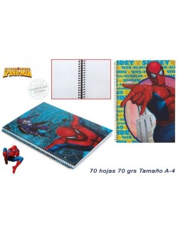 Caiet matematica A4, 70 file, Marvel Spiderman