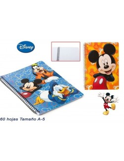 Caiet de notite A5, 60 file, Disney Mickey Mouse