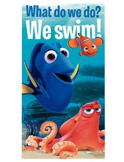 "Prosop de plaja Disney Finding Dory ""We swim!"""