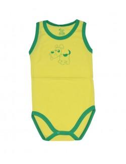 Body copii tip maiou, galben, catelus, 36 luni, Karababy