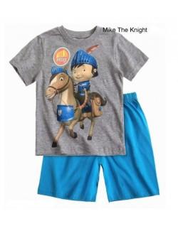 Pijama vara copii Cavalerul Mike, 3 - 5 ani, gri