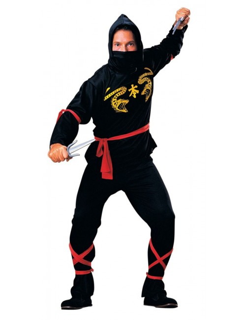 Costum carnaval Black Ninja pentru adulti