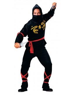Costum carnaval Black Ninja pentru adulti, Rubie's
