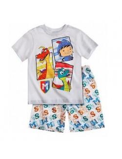 Pijama de vara copii Cavalerul Mike, 3 - 5 ani, alba