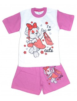 Set haine: Tricou si pantaloni scurti Cute Bear