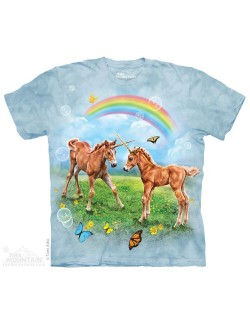 Tricou The Mountain adulti: Dueling Unicorn Twins