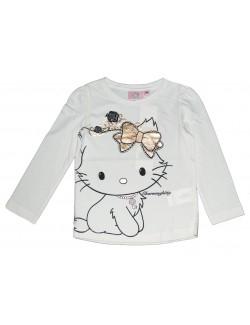 Bluza maneca lunga Charmmy Kitty, crem, 3-8 ani
