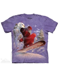 Tricou adulti The Mountain: Snowboard Bear