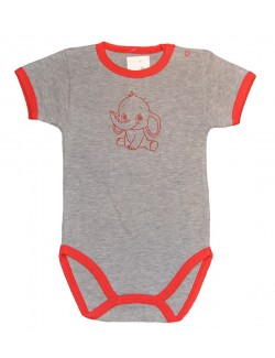 Body bebe 3 - 9 luni, maneca scurta, Elefantel