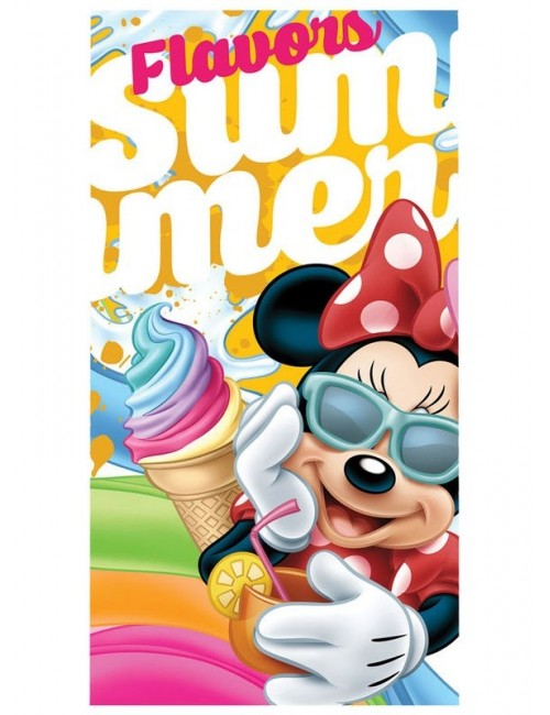 Prosop baie copii, Minnie Mouse Flavors, 70x140 cm