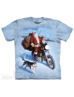 Tricouri adulti The Mountain: Santa Biker