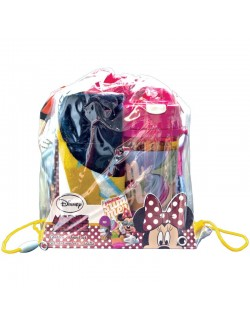 Set cadou Minnie Mouse: Prosop, Cana pop-up si Sac de umar