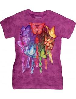 Tricou femei: Rainbow Butterfly Dreamcatcher