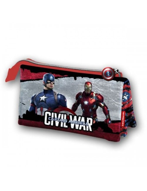 Penar triplu Avengers Captain America  22x12 cm