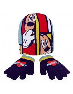 Set iarna: Caciula si manusi Mickey Mouse