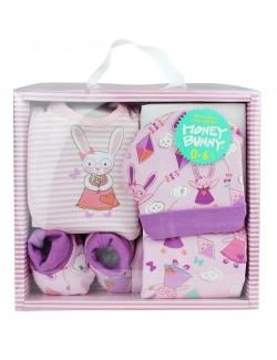 Set cadou bebelusi 0-6 luni, 5 piese, Honey Bunny