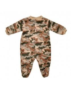 Salopeta bebelusi 0-9 luni, model camuflaj