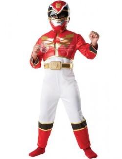 Costum Halloween copii: Power Rangers, Red, Deluxe