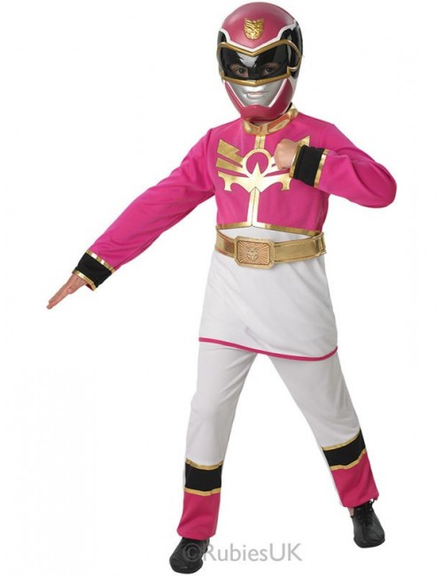Costum Halloween copii: Power Rangers, Pink Clasic
